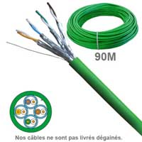 Câble réseau cuivre en couronne CAT6A UFTP LSZH 100 OHMS AWG23
